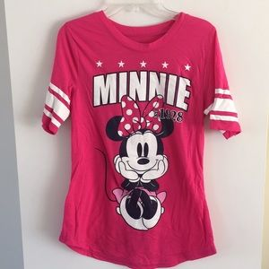 Disney Minnie Mouse tee pink bow s 3/5 youth
